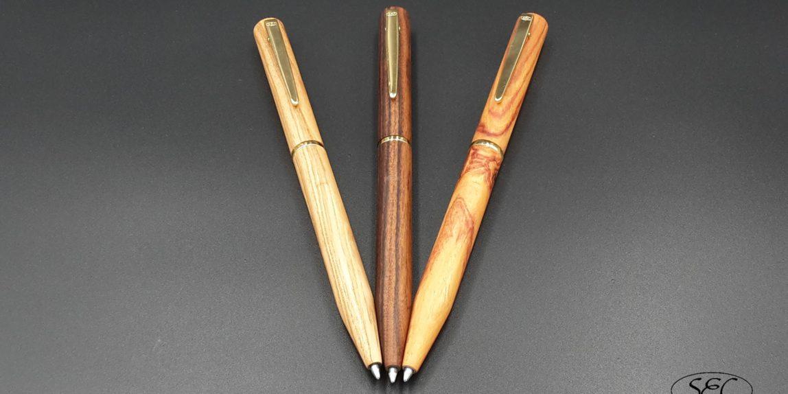 Penne in legno fatte a mano NATURA ORO